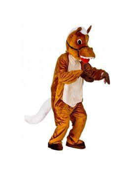 Mascotte de cheval heureux